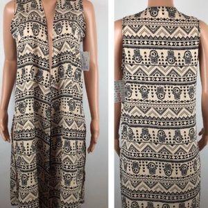 Lularoe Hamsa Henna Hindu Hand Joy Duster Vest XL